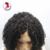8A Grado 150% Densidad Rizado Corto Pelucas Delanteras del Cordón Flojo Humano Virginal Mongol rizado Con El Pelo Del Bebé Para Las Mujeres Negras pelo