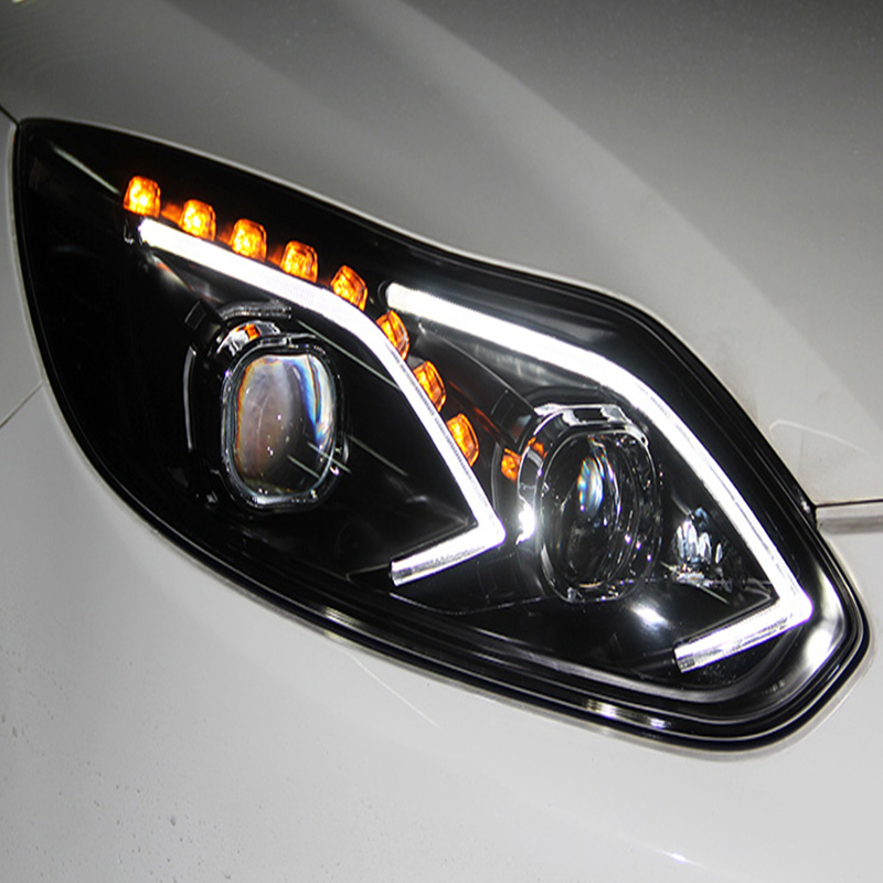 Car Styling for Ford Focus Headlights 2012 2014 LED Headlight for Focus Head Lamp LED Daytime