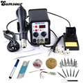 220V / 110V 700W 2 In 1 SMD Rework Soldering Station Hot Air Gun Solder Iron For Welding Repair Better Than ATTEN