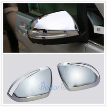 For Mercedes Benz V Class V260 2014 2015 2016 2017 2018 Door Mirror Cover Rear View Overlay Chrome Car Styling Accessories abs chrome side wing fender rearview door mirror trim cover for mercedes benz v class v250 v260 v220 2014 2015 2016 2017