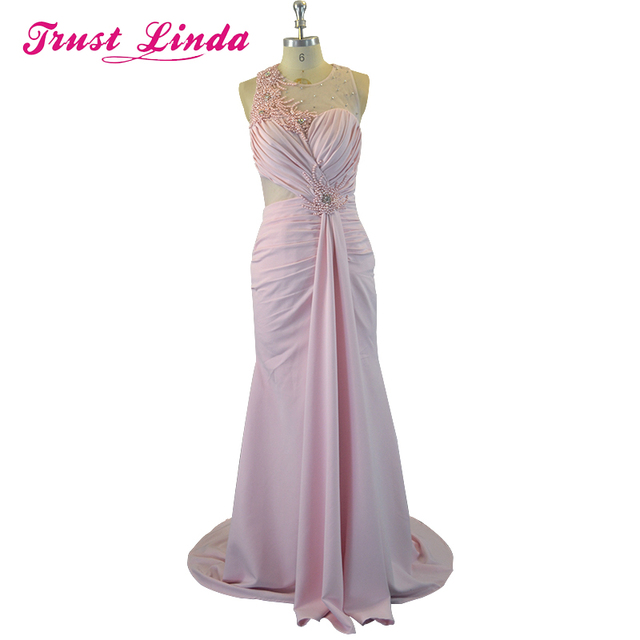 Sexy See Through Unique Design Pearl Beads Mermaid Prom Gown Fashion Floor Length Evening Dress for Wedding Party Custom Made