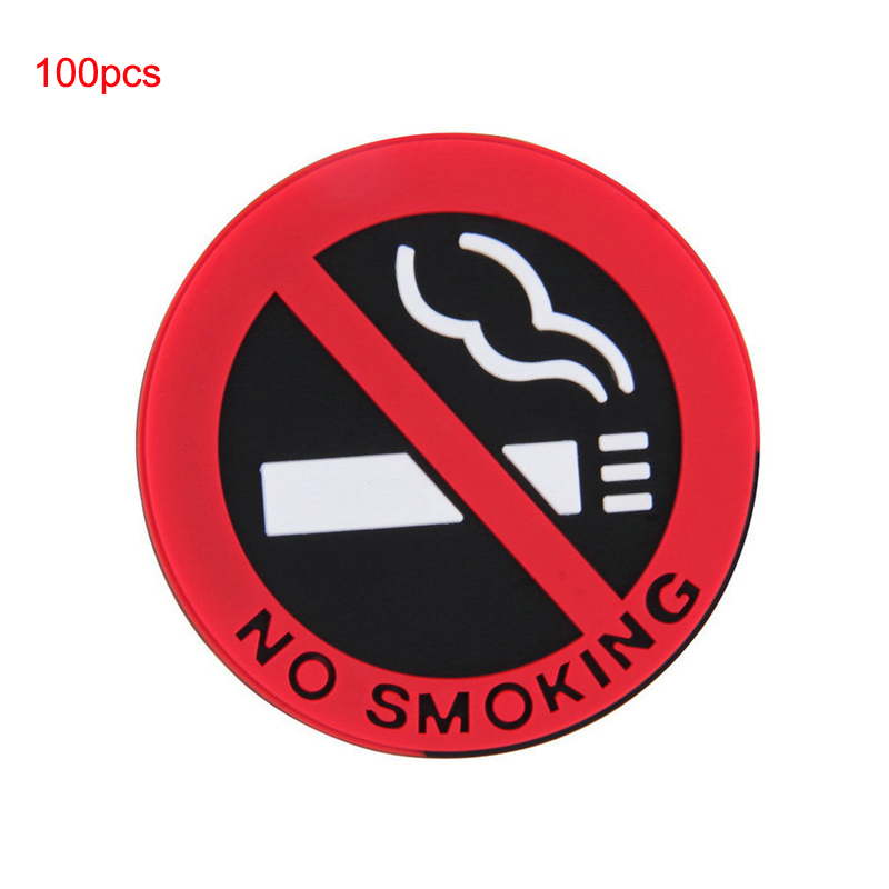Youwinme No Smoking Car Stickers 100pcs Auto Warning Mark Sign Logo Truck Interior Decal vehicle Decoration