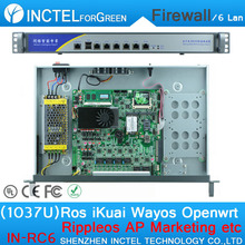 1U Case 1037U Multi Gigabit Network Firewall Server with Intel PCI E 1000M 6*82583V IN-RC6