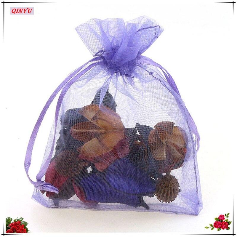 50 шт., тюлевые пакеты для ювелирных изделий, 13 х18 см