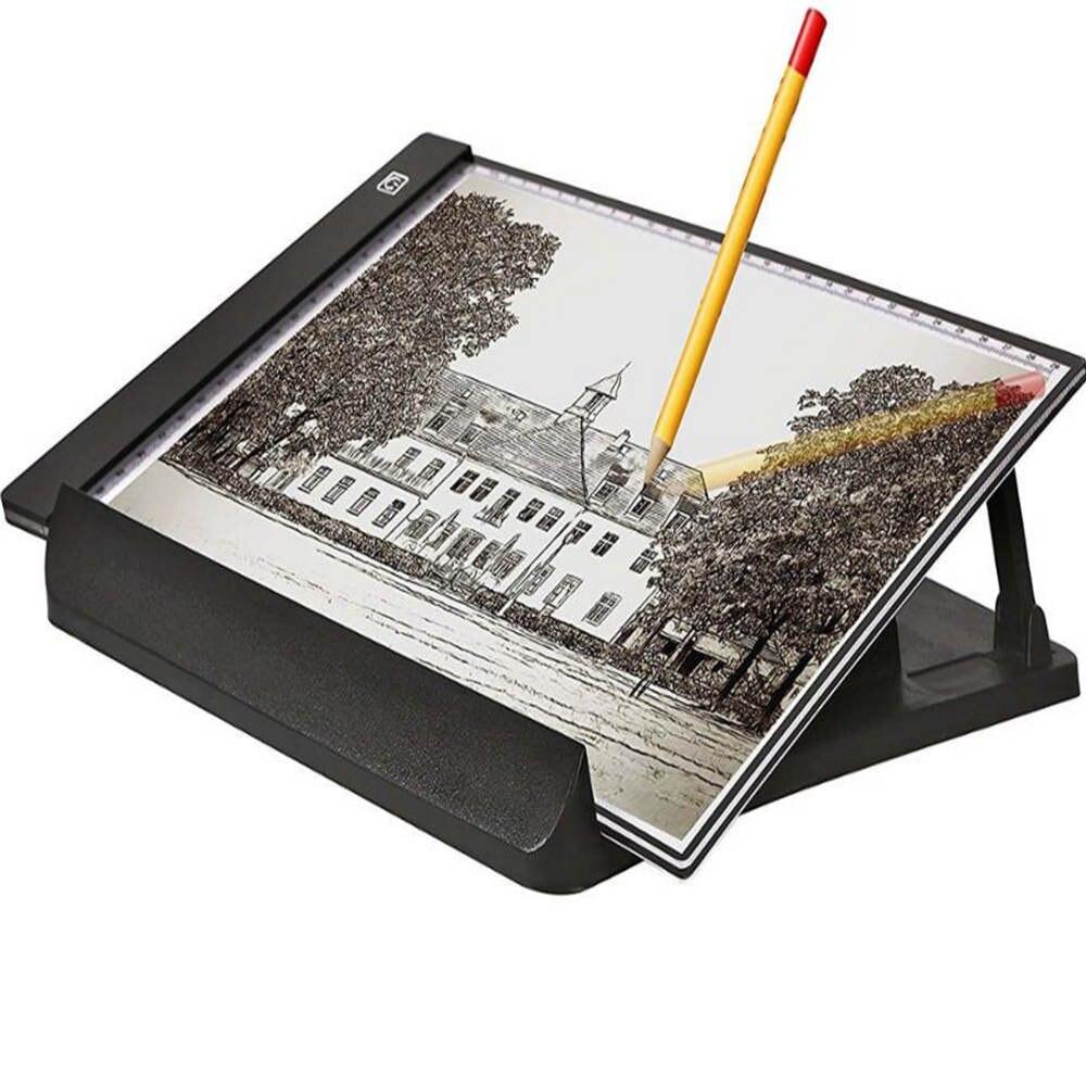 Portable A4 taille LED Boîte à Lumière avec Tracing Light Pad Lightbox Stand Traceur USB Câble D'alimentation Dimmable Luminosité Artisanat Pad