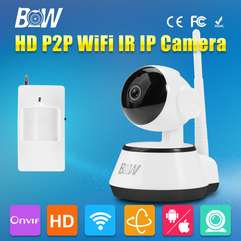 ФОТО IP Dome Camera + Infrared Motion Sensor HD 720P P2P Baby Monitor P/T WiFi Video Surveillance Security CCTV Onvif 3.6mm Endoscope