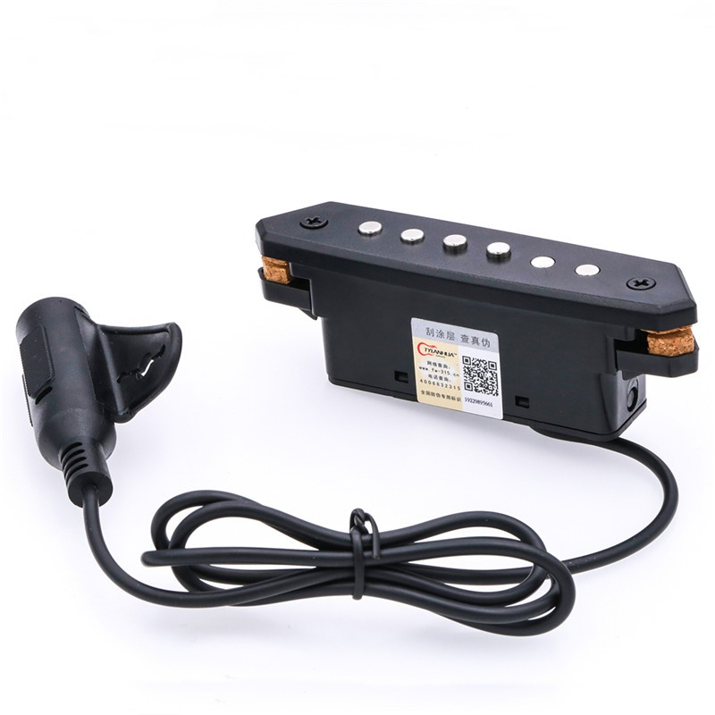 High-Quality Preamp System Soundhole Pickup Sensor Magnetic Preamp EQ Equalizer for 39 to 42 Acoustic Folk Guitar