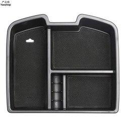 Dla Chevrolet Avalanche Chevrolet Suburban Tahoe Silverado dla GMC podłokietnik konsoli środkowej do przechowywania organizator rękawice tacka pudełko w Naklejki samochodowe od Samochody i motocykle na