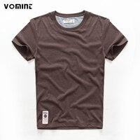 VOMINT/Лидер продаж, новая мужская Однотонная футболка с короткими рукавами, с круглым вырезом, мягкая однотонная хлопковая эластичная дышаща...