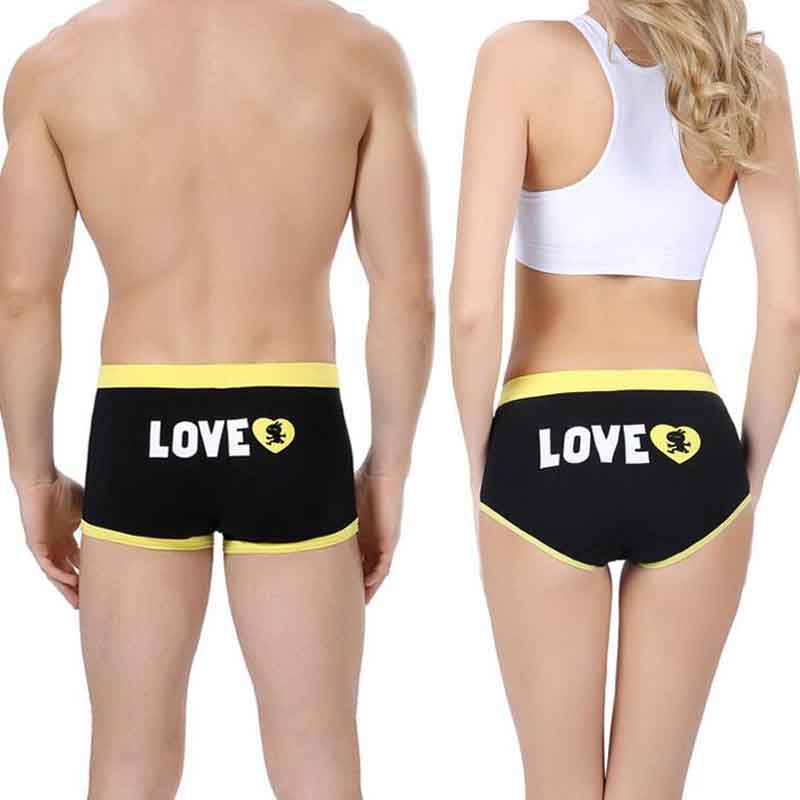2017 New Cotton Underwear Mid Waist Mens Calzoncillos Boxer Women Triangle Couple Panties Best Valentines Day Gift for Lovers ...