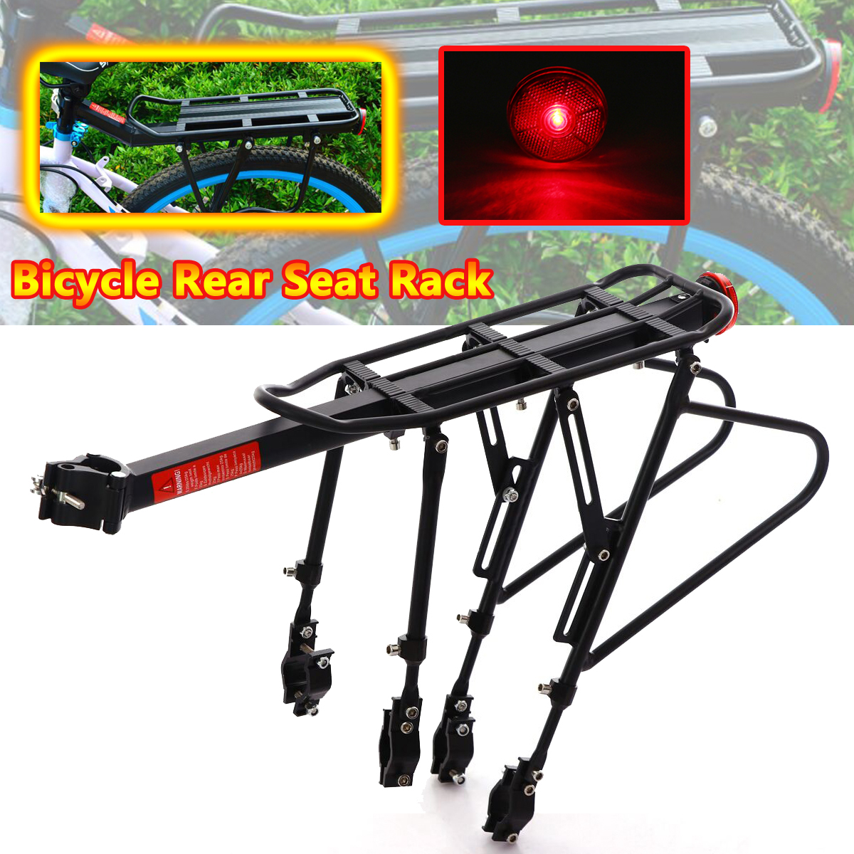 Heavy Duty Bike Bicycle Pannier Rear Rack Carrier Bracket Luggage Max Load