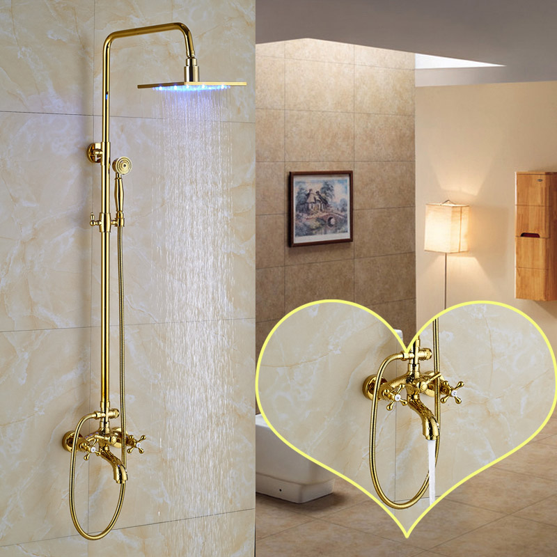 Wholesale and Retail Golden Finish Bathroom Shower Faucet with 8