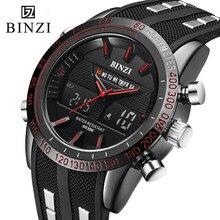 Hombres del Reloj del deporte Reloj de Pulsera de Moda Para Hombre Militar Reloj Electrónico Masculina BINZI 2017 Ejército Informal Relojes Digitales Relogio masculino