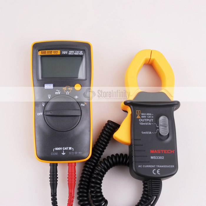 Fluke 101 Basic Digital Multimeter  Pocket Digital Multimeter Auto Range  MS3302 AC Current Transducer 0.1A-400A Clamp Meter