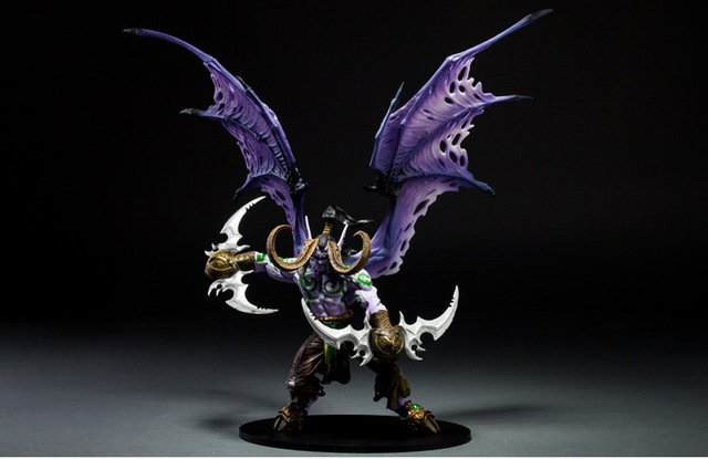 Game Wow Demon Hunter illidan Stormrage PVC Action Figure Toys 1