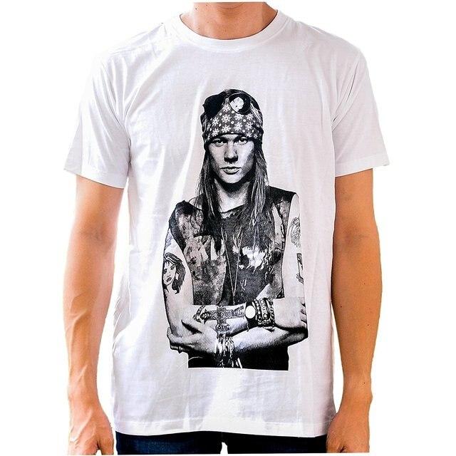 e8b9a34627c Fashion Men Summer T-shirt Axl Rose T Shirt Men's Short Sleeve Shirt  Printed T