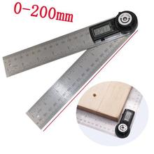 200mm Digital Angle Ruler Finder Meter Protractor Inclinometer Goniometer Electronic Angle Gauge Stainless Steel