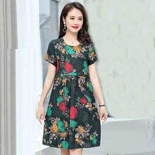 2019 Women Summer Dress Short Sleeve O-Neck Florals Print Part Formal Dresses vestidos de faste raw edge florals dress