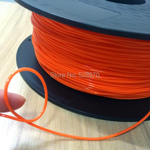 3D printer Flexible filament orange color 3d printer filamento 1 75mm 3d printer 1kg 2 2lb