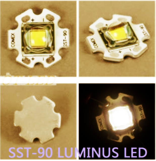 1PCS Luminus SST-90 30W LED Emitter 2250LM Warm White 3000K Module PCB 20mm Copper For DIY Flashlight Torch