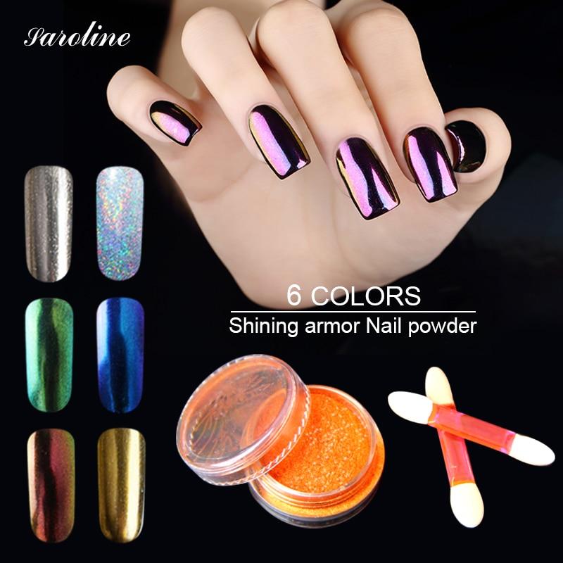 Saroline Professional DIY Nails Pigment Glitter Metallic Chrome ...