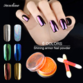 Saroline Professional DIY Nails Pigment Glitter Metallic Chrome Mirror Powder Nails Set Art Tool Kit Accessoires Fashion Glow