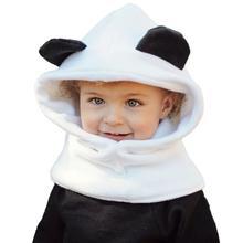 Caliente! 2017 bebé Niñas niño zorro invierno con capucha bufanda sombrero  de lana de punto 9d2067d9dae