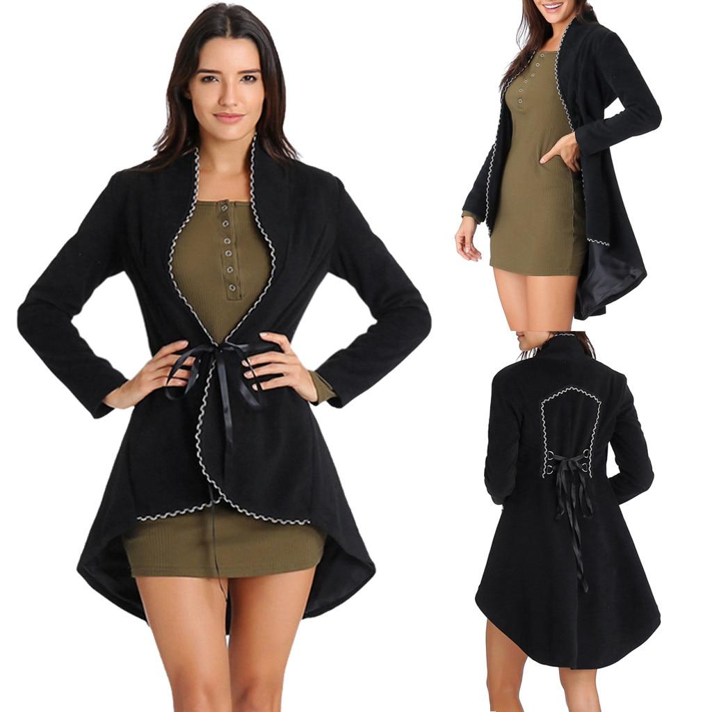 2019 Nuovo Stile Muqgew Delle Donne Dell'annata Steampunk Lungo Cappotto Gothic Cappotto Delle Signore A Maniche Lunghe Retro Cappotto Cardigan Donna Vestiti