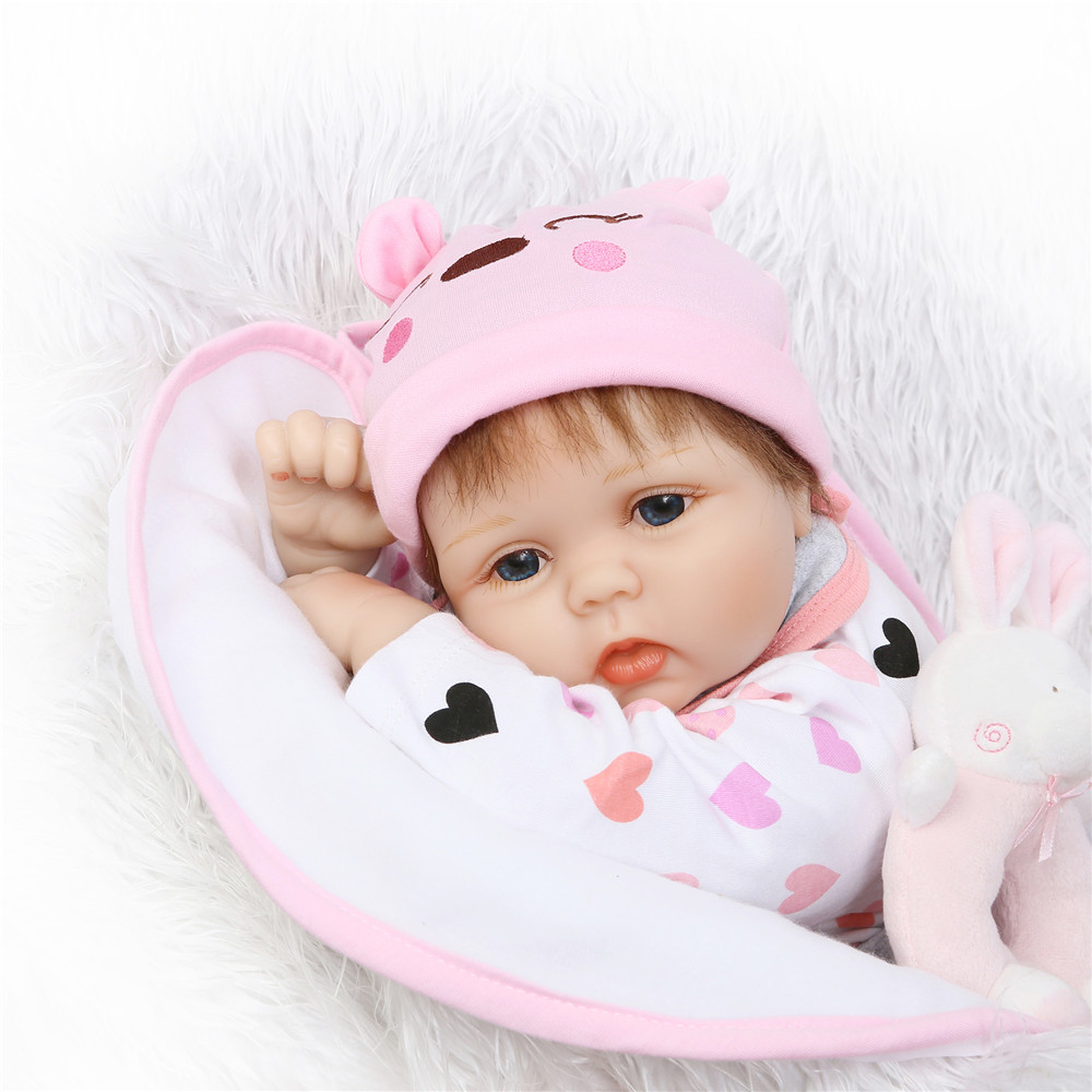 Bebe 22inch reborn silicone dolls girl toys gift soft body magnetic mouth with pacifier bottle rattle bonecas brinquedo