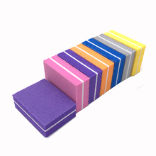 20Pcs/lot Mini Nail File Blocks Double-sided Sanding Buffer Lime A Ongle Professionel Colorful Sponge Manicure Files