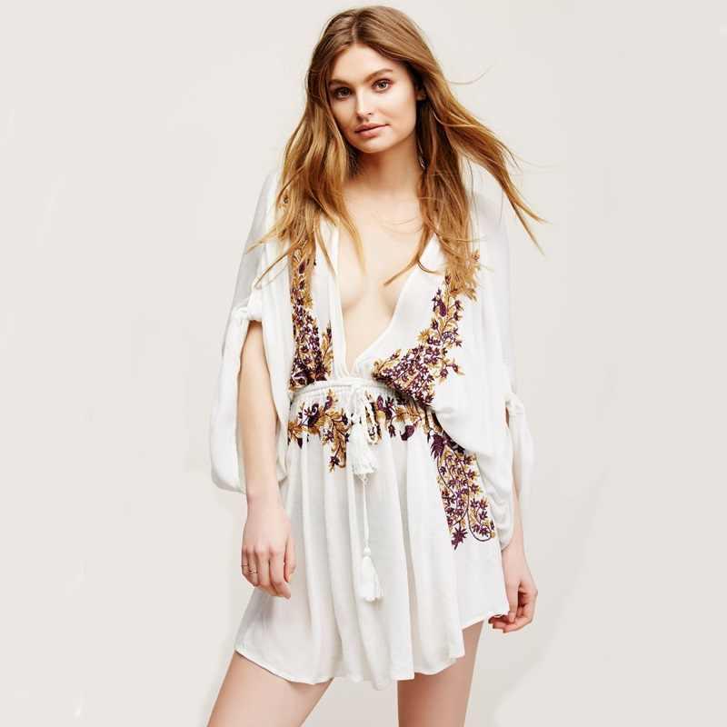 6a0a989cd5 Dresses summer 2018 women hippie boho clothing chic dress beach fashion  hippie chic female summer 2018