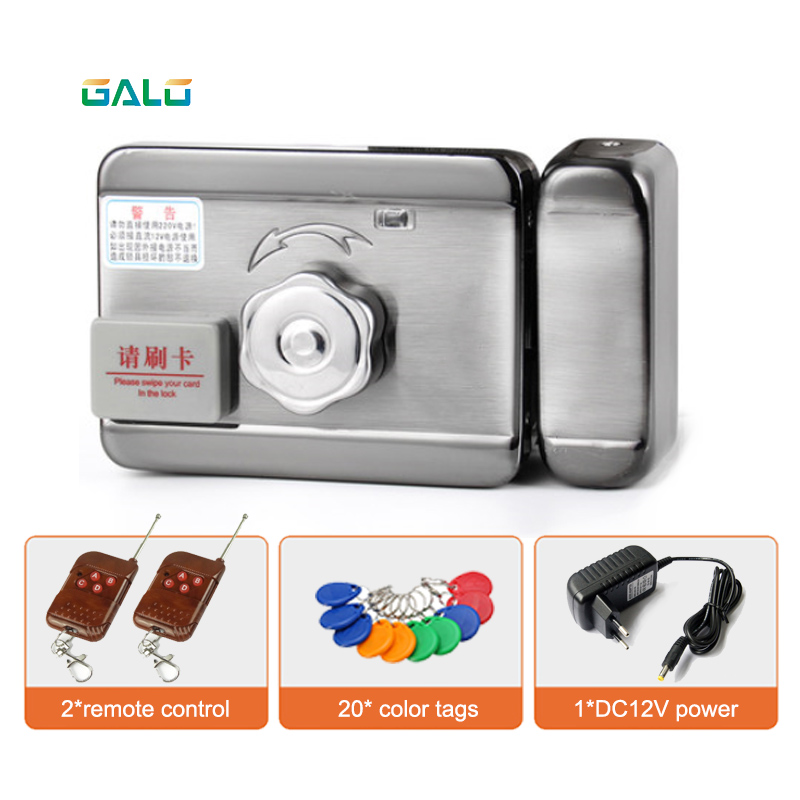 Rainproof Home Door Lock Intelligent Electronic Lock Castle With Remote Control Optional & Double Side RFID Unlock