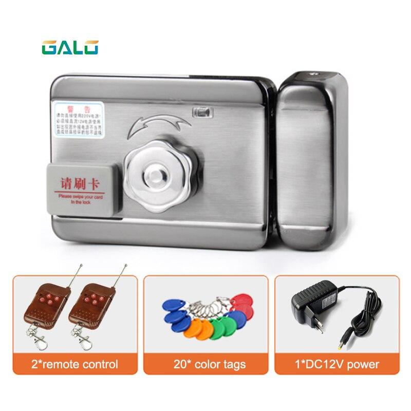 Rainproof Home Door Lock Intelligent Electronic Lock Castle With Remote Control Optional & Double Side RFID Unlock