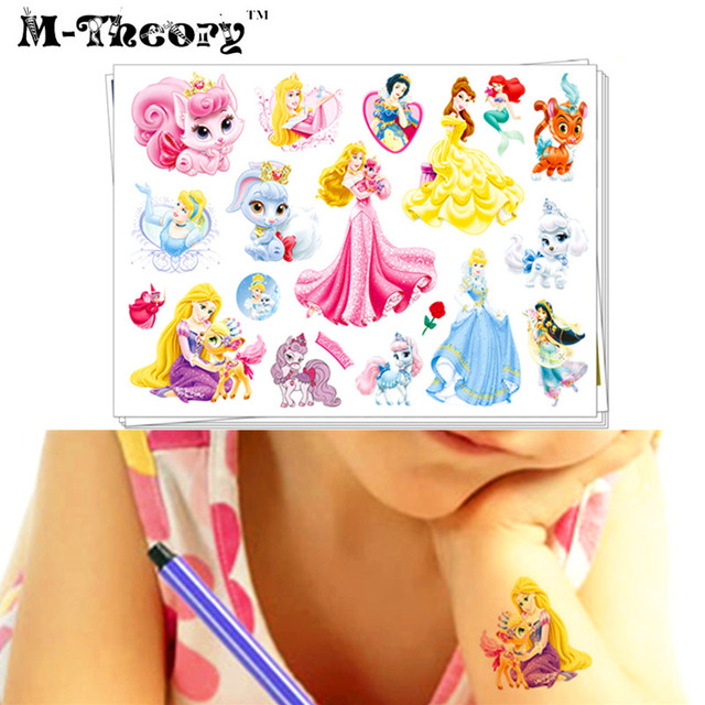 M-theory Baby Makeup Temporary Tattoos Henna Body Art Sticker Toys Princess Tatuagem Flash Tatoos Sticker Toys Decoration Decals