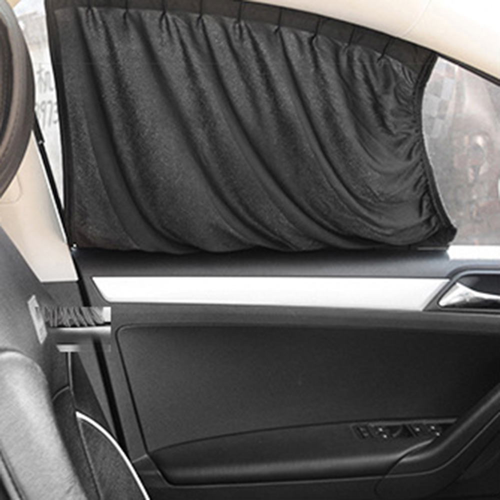Car interior curtains - Black Car Styling Car Curtains Car Sun Shade Interior Accessories Sunshade Uv Protection For Side Window