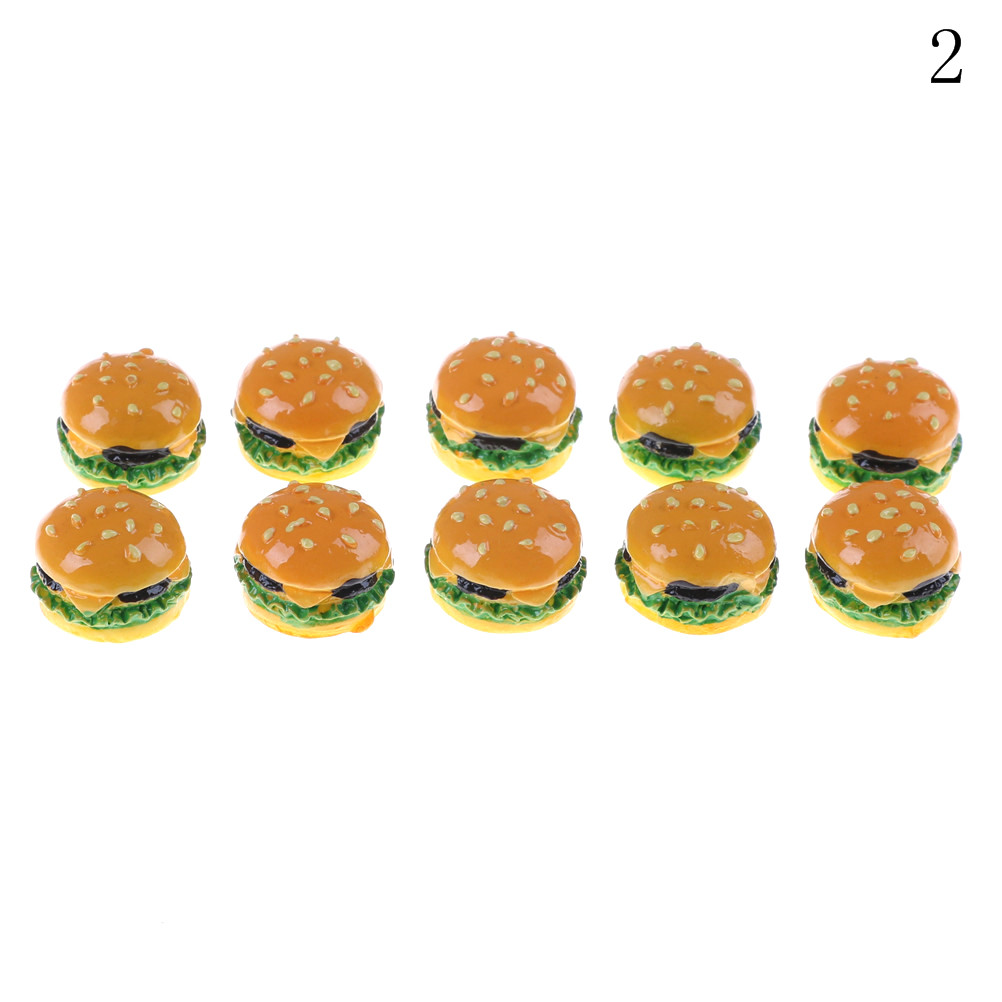 Image 3 - 2Pcs Hamburgers Mini Miniature Food Figurine Anime Action Figure Toys For Home Garden Decor DIY Accessories-in Kitchen Toys from Toys & Hobbies