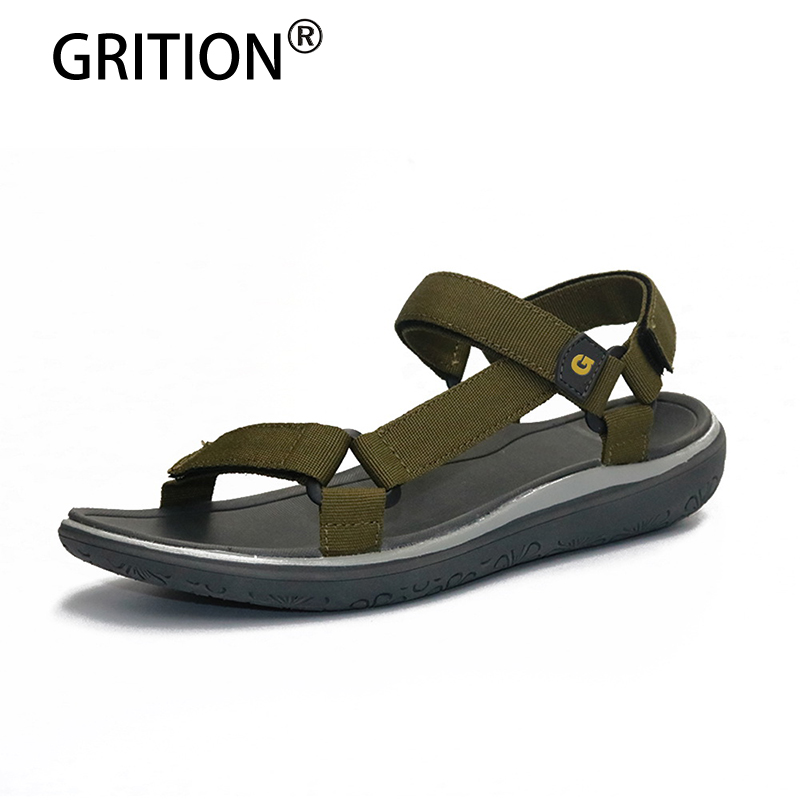 GRITION Women Sneakers Outdoor Sandals For Women Outdoor Summer Flat Sandals Light Anti-skid Trekking Shoes Sandalias De Mujer