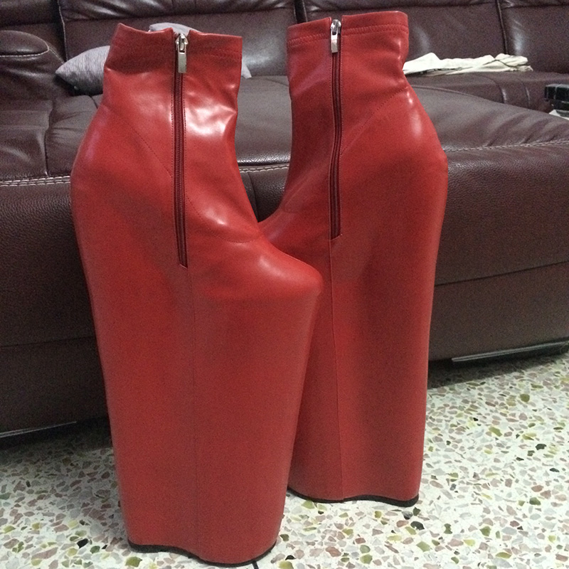 7 inch high heel cork wedges - 2 part 10