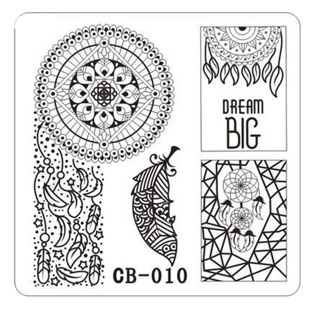Hotsale DIY Nail Art Stamp Obraz Kucie Płyty Serii Nail Art Stamp Płyta Manicure Szablon DIY Styling Tools 2017