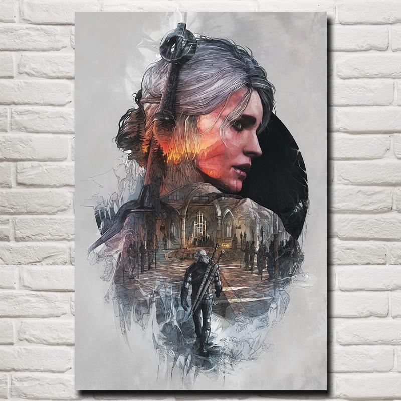 The Witcher 3 Wild Hunt Game Art Silk Poster 12x18 24x36