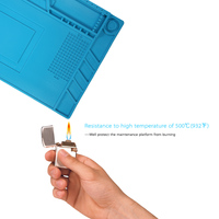 Welding Magnetic Heat Insulation Silicone Pad For BGA Soldering Repair Solder Station Mat High Temperature Maintenance