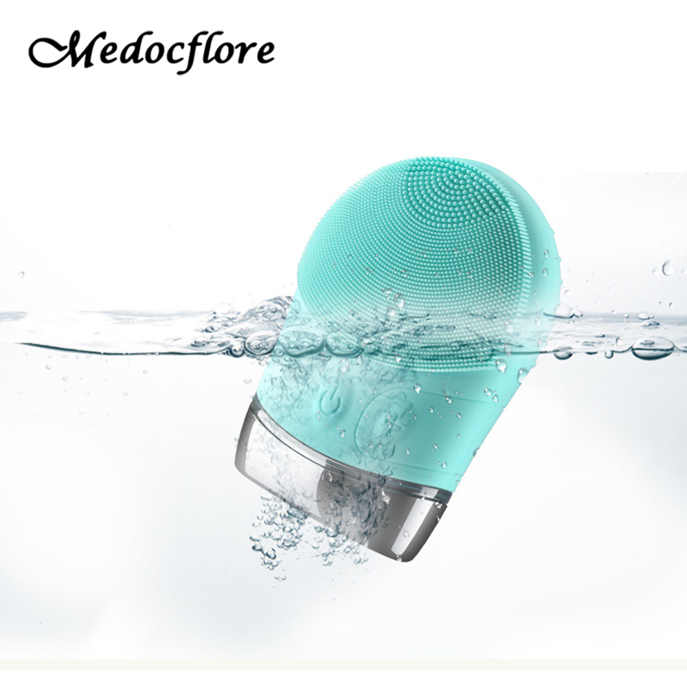 Face cleaning Silicone Waterproof Electric Vibrator Face Massager Blackhead Acne Remover Shower Beauty tool Facial brush beauty deep face cleansing brush facial cleanser 2 speeds electric face wash machine