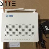 2 pieces/lot HG8546M GPON ONU wireless terminal 1*phone 1WIFI 4FE LAN English version with china mobile logo SIP or H.248
