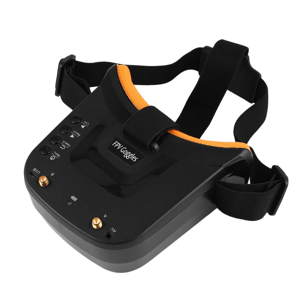 Mini FPV Goggles 3 inch 480 x 320 Display Double Antenna 5.8G 40CH Built in 3.7V 1200mAh Battery for Racing Drone Model
