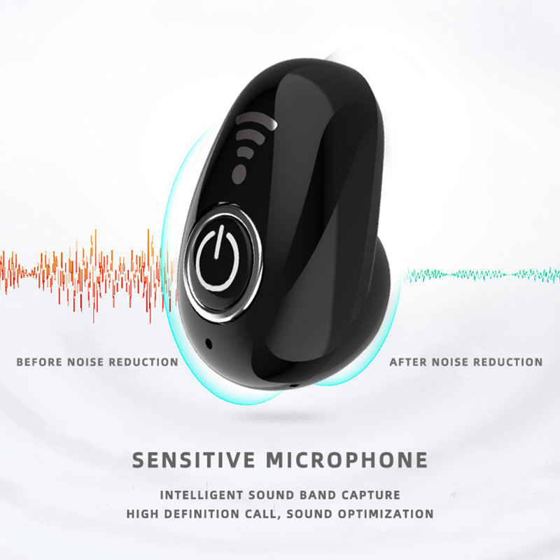 Image 3 - S650+ Mini Bluetooth Earphone Wireless Headset USB In Ear Invisible Earbuds Handsfree Headset Stereo with Mic for Phone compat-in Bluetooth Earphones & Headphones from Consumer Electronics