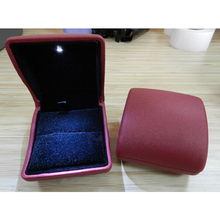 LED Imitation Leather Jewelry Ring Packaging Box