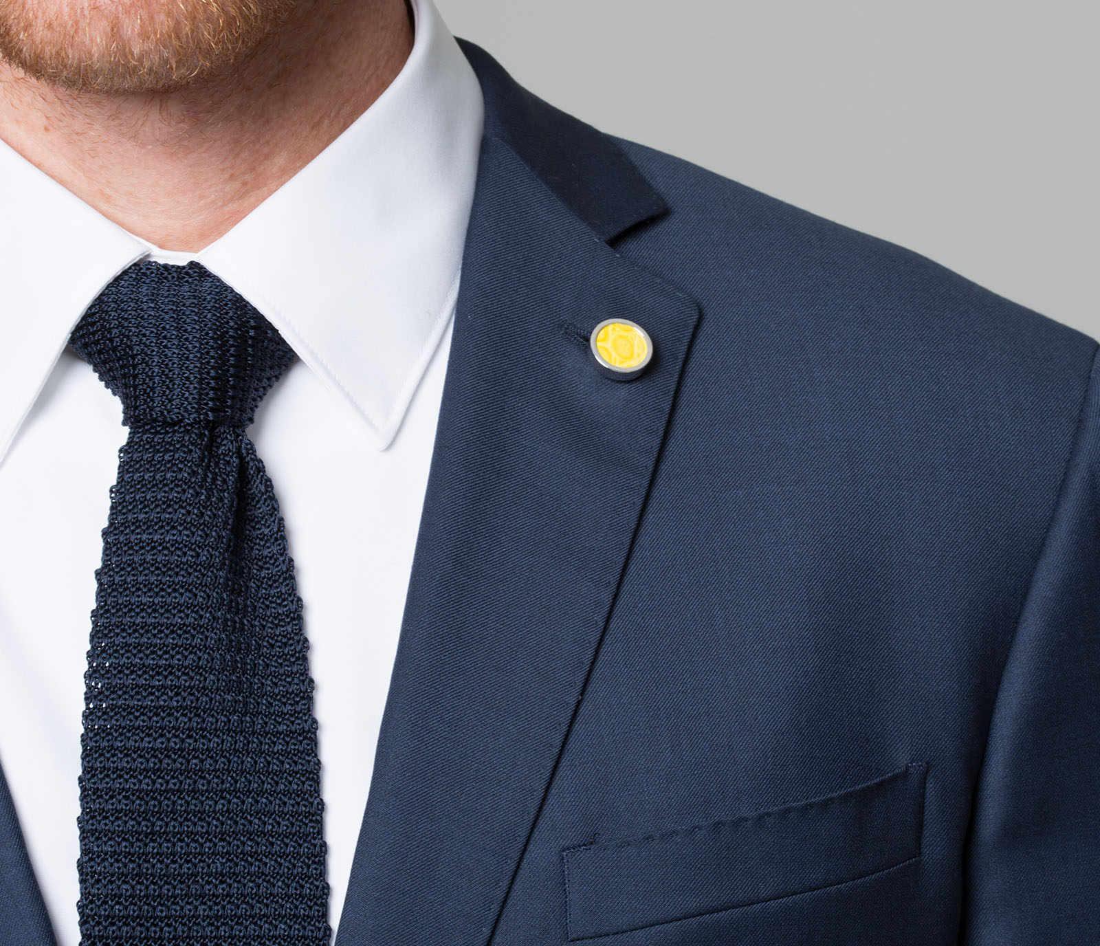 2017 Desain Baru Vintage Bunga Kupu-kupu Perak Perhiasan Fashion Mandala Stainless Steel Kerah Pin untuk Pria Kerah Pin Kemeja