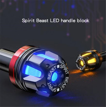 SPIRIT BEAST Motorcycle Accessories Handlebar Balance Head Handle Decoration Motocross Grips Motor Protection Led Signal Lights