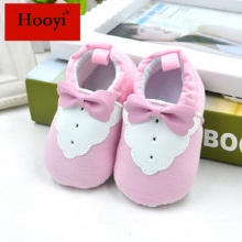 Hooyi Fashion Baby Girl Shoes Infant Slippers Pink Bowtie Bebe First Walkers Soft Sole Anti-Slip Newborn Sneakers baby moccasins