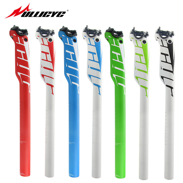 Ullicyc Newest Mountain Bike Seatpost Mtb/Road Bicycle Parts Full Carbon Fiber+Alloy Cover Seatposts 27.2/30.8/31.6*350/400mm